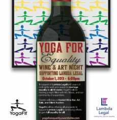 YogaFit and Lambda Legal Partner to Support Marriage Equality on October 1st at Yoga for Equality: Wine and Art Night Benefiting Lambda Legal