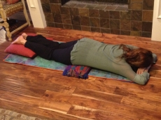 Restorative Pose Of The Month - Makarasana (Crocodile)