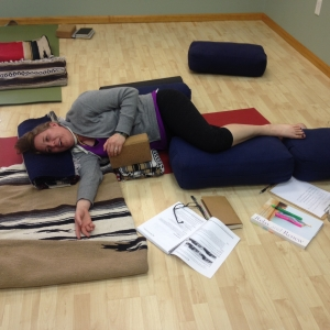 Restorative Pose Of The Month - Bent Knee, Side Lying Pose