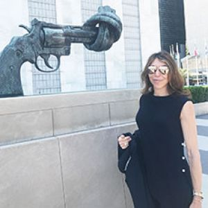 Beth Shaw presents at the United Nations
