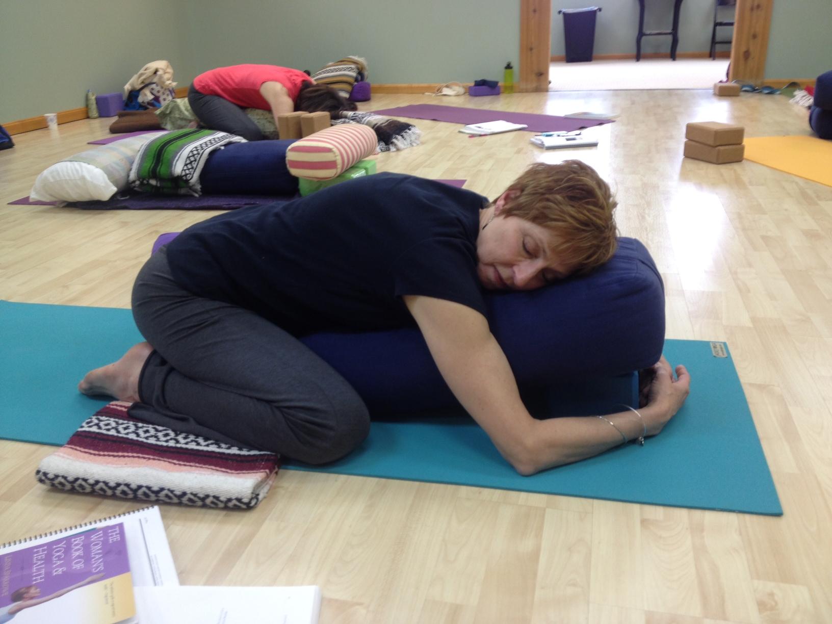 Restorative Pose Of The Month   Child's pose Balasana   YogaFit ...
