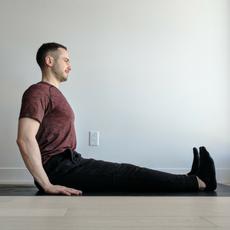 la posture du bâton  dandasana  yogafit canada yoga