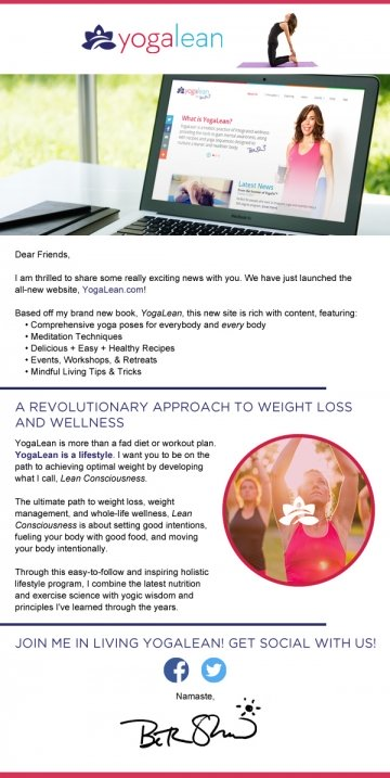 Celebrate the Launch of YogaLean, a Holistic Approach to Mind Body Wellness