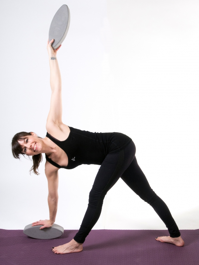 Revolved Triangle with the YogaFit Eggs