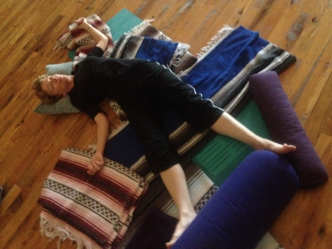 Restorative Pose Of The Month (Oct) - Supta Trikonasana