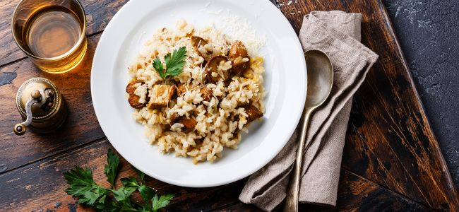 YOGALEAN: Brown Rice Mushroom Risotto